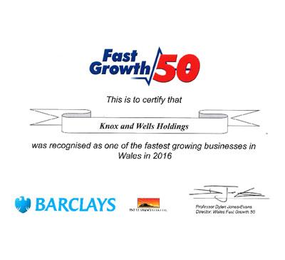 Fast Growth 50 – Knox & Wells no.38